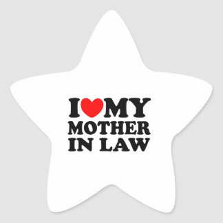 I Love My Mother In Law Star Sticker