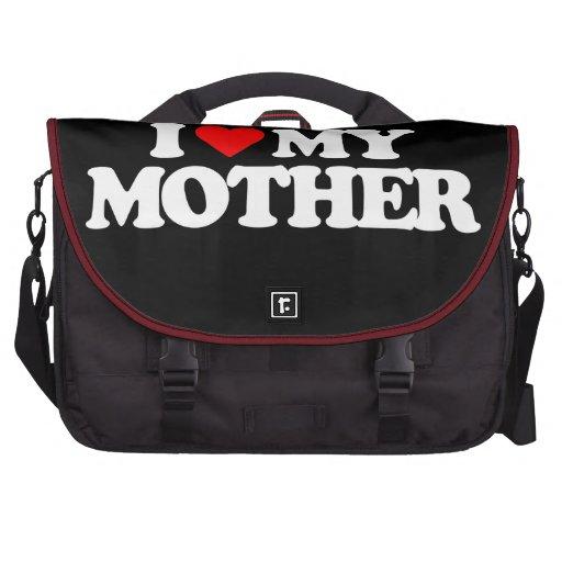 I LOVE MY MOTHER LAPTOP MESSENGER BAG