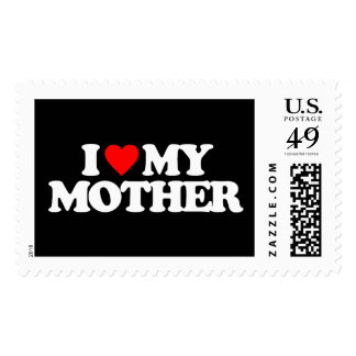 I LOVE MY MOTHER POSTAGE STAMP