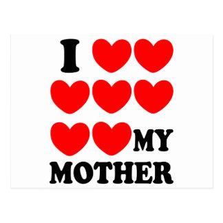I Love My Mother Postcard