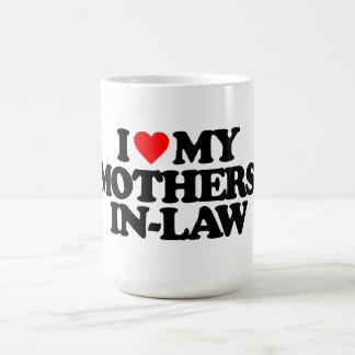 I LOVE MY MOTHERS-IN-LAW CLASSIC WHITE COFFEE MUG