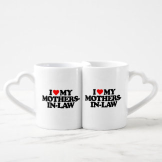 I LOVE MY MOTHERS-IN-LAW COUPLES' COFFEE MUG SET