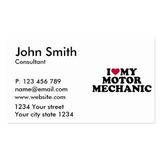 I love my motor mechanic business card