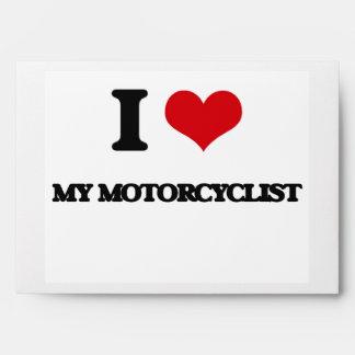 I Love My Motorcyclist Envelopes