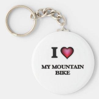 I Love My Mountain Bike Keychain