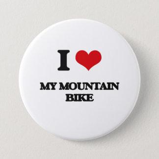 I Love My Mountain Bike Pinback Button