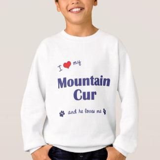 I Love My Mountain Cur (Male Dog) Sweatshirt