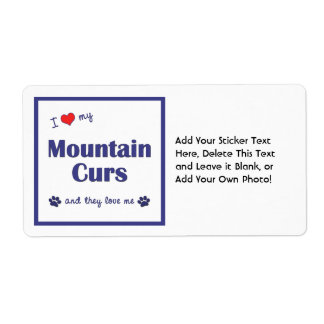 I Love My Mountain Curs Multiple Dogs Label