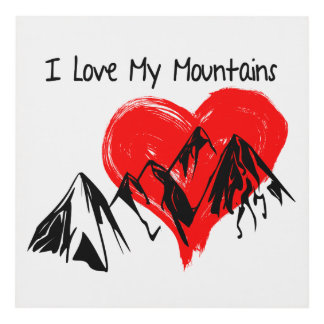 I Love My Mountains! Panel Wall Art