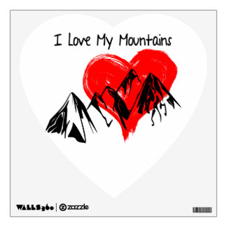 I Love My Mountains! Wall Sticker