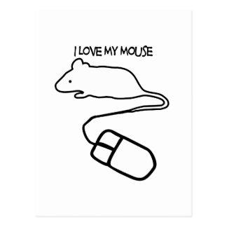 I Love My Mouse Postcard