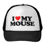 I LOVE MY MOUSE TRUCKER HAT