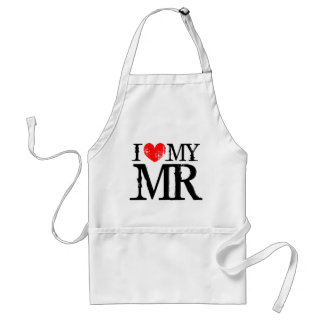 I love my mr aprons for women | I heart my husband