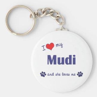 I Love My Mudi (Female Dog) Keychain