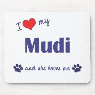 I Love My Mudi (Female Dog) Mouse Pad