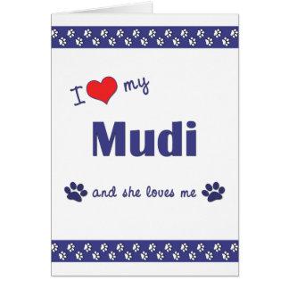 I Love My Mudi (Female Dog) Stationery Note Card