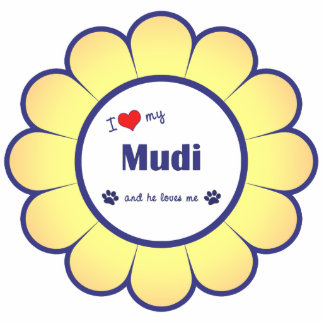 I Love My Mudi (Male Dog) Cutout