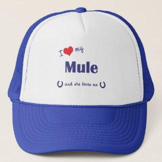 I Love My Mule (Female Mule) Trucker Hat