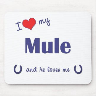 I Love My Mule (Male Mule) Mouse Pads
