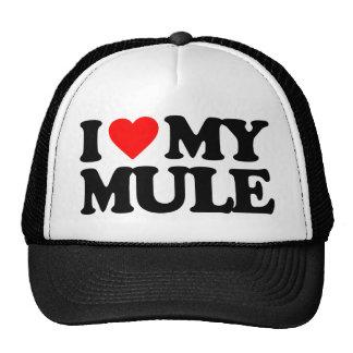 I LOVE MY MULE TRUCKER HAT