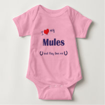 I Love My Mules (Multiple Mules) Baby Bodysuit