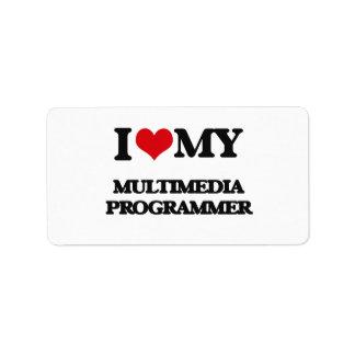 I love my Multimedia Programmer Personalized Address Label