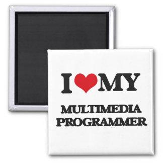 I love my Multimedia Programmer Fridge Magnets