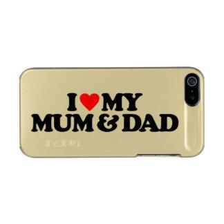 I LOVE MY MUM & DAD INCIPIO FEATHER® SHINE iPhone 5 CASE