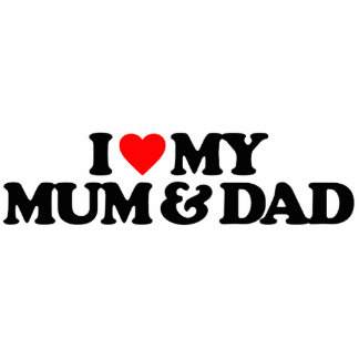 I LOVE MY MUM & DAD PHOTO CUT OUTS