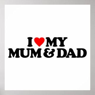 I LOVE MY MUM & DAD PRINT
