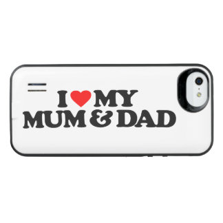 I LOVE MY MUM & DAD UNCOMMON POWER GALLERY™ iPhone 5 BATTERY CASE
