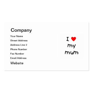 I Love My Mum Double-Sided Standard Business Cards (Pack Of 100)