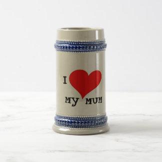 I LOVE MY MUM 18 OZ BEER STEIN