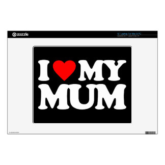 """I LOVE MY MUM DECALS FOR 12"""" LAPTOPS"""