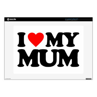 I LOVE MY MUM DECAL FOR LAPTOP