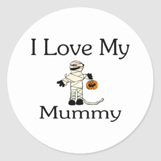 I Love My Mummy Classic Round Sticker