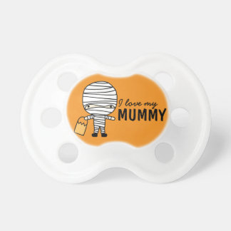 I Love My Mummy   Halloween Baby Pacifier