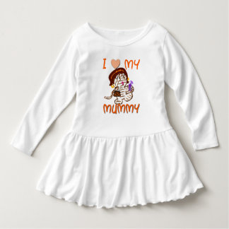 I Love My Mummy Halloween Toddlers Dress
