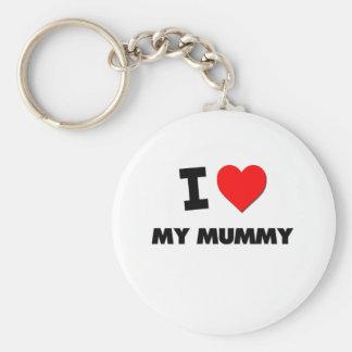 I Love My Mummy Keychain