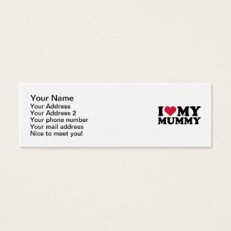 I love my mummy mini business card