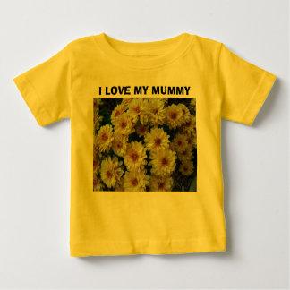 I LOVE MY MUMMY, Yellow Two Toned Mums Onsesie Baby T-Shirt