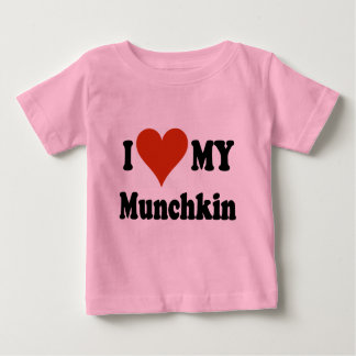 I Love My Munchkin Cat Gifts and Apparel Baby T-Shirt