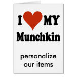 I Love My Munchkin Cat Gifts and Apparel Card