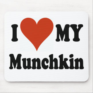 I Love My Munchkin Cat Gifts and Apparel Mouse Pad