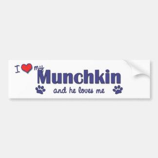 I Love My Munchkin (Male Cat) Car Bumper Sticker