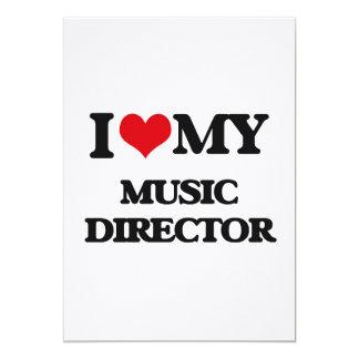I love my Music Director 5x7 Paper Invitation Card