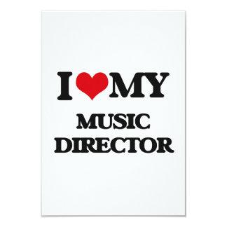 I love my Music Director 3.5x5 Paper Invitation Card