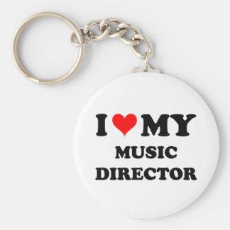 I Love My Music Director Key Chain