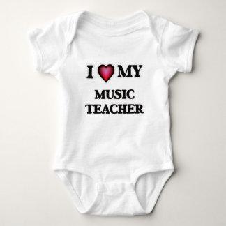 I love my Music Teacher Baby Bodysuit