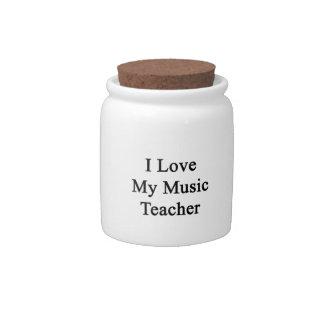 I Love My Music Teacher Candy Jar